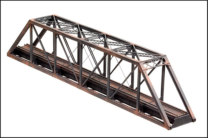 Central Valley N scale #1810 Truss Bridg assembled and weathered.