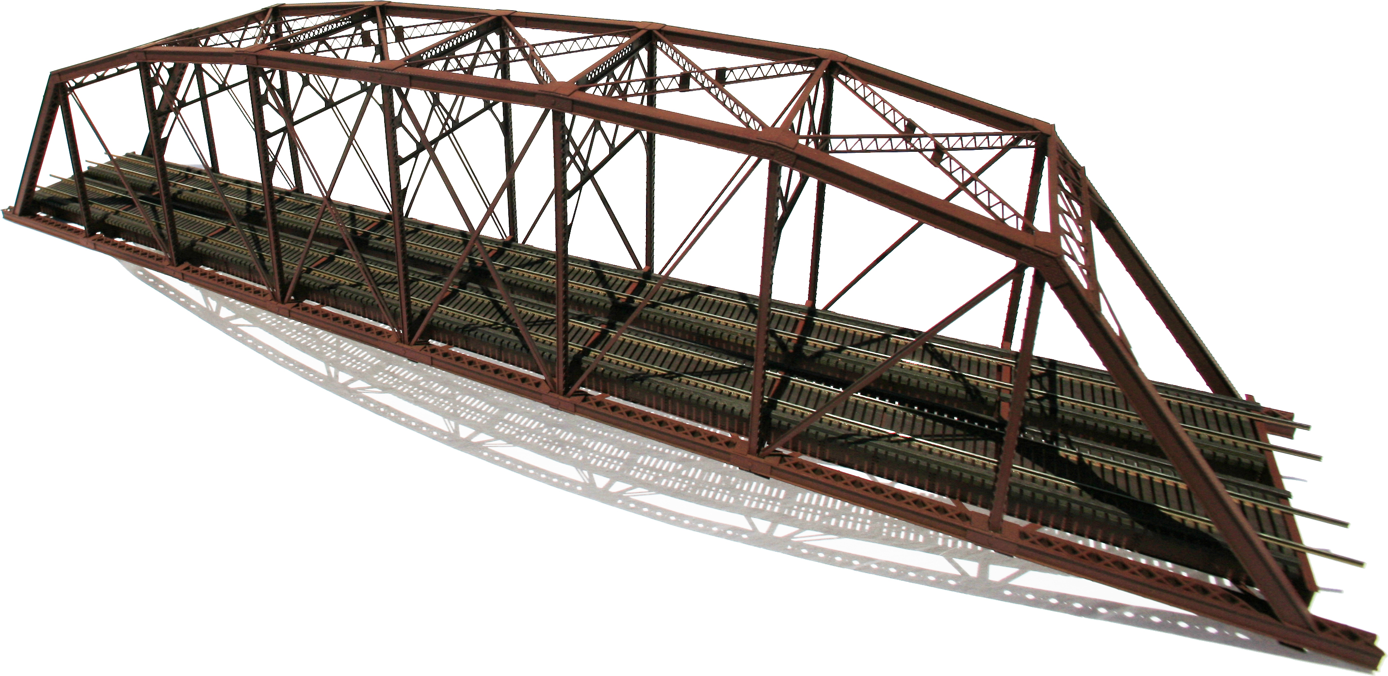 Ho Scale double track Parker Truss Bridge.